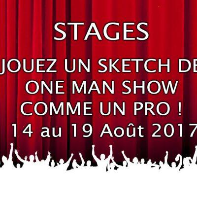 stage STAGE JOUEZ UN SKETCH 14 au 19