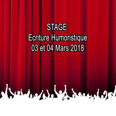 STAGE WE ECRITURE 03 & 04 MARS 18