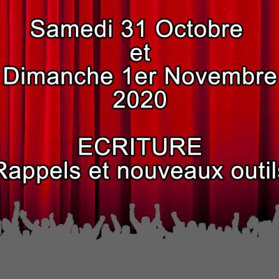 stage Samedi 31 Octobre et dimanche 1er Novembre